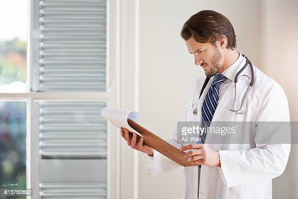 Keeping track of his patients' progress