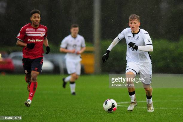 Kees De Boer of Swansea City u23 in action during the Premier League 2 Division Two match between Swansea City u23s and Middlesbrough u23s at Swansea...