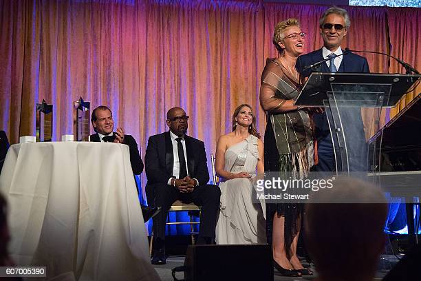 Kees Kruythoff Forest Whitaker Princess Madeleine and Andrea Bocelli attends the World Childhood Foundation USA Thank You Gala 2016 at Cipriani 42nd...
