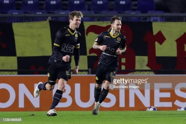 Kees Luijckx of Roda JC celebrates 1-1 during the Dutch Keuken Kampioen Divisie match between NAC Breda v Roda JC at the Rat Verlegh Stadium on...