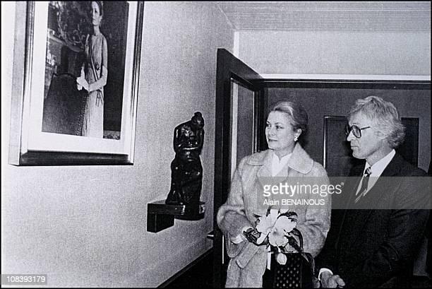 Kees Verkade and Princess Grace in Monaco on January 01 1973