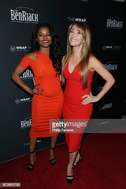 Keesha Sharp and Jane Seymour attend TheWrap's 2018 Women Whiskey and Wisdom Celebrating Women Oscar Nominees at Teddy's at The Hollywood Rooselvelt...