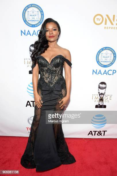 Keesha Sharp attends the 49th NAACP Image Awards at Pasadena Civic Auditorium on January 15 2018 in Pasadena California