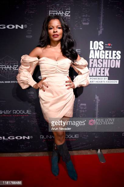 Keesha Sharp backstage during Los Angeles Fashion Week SS/20 Powered by Art Hearts Fashion Day 1 on October 17 2019 in Los Angeles California
