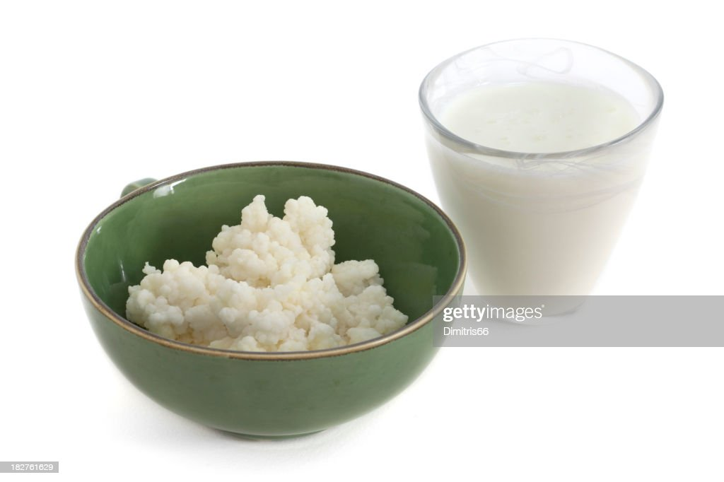Kefir Drink and Fungus in a Bowl : Stock Photo