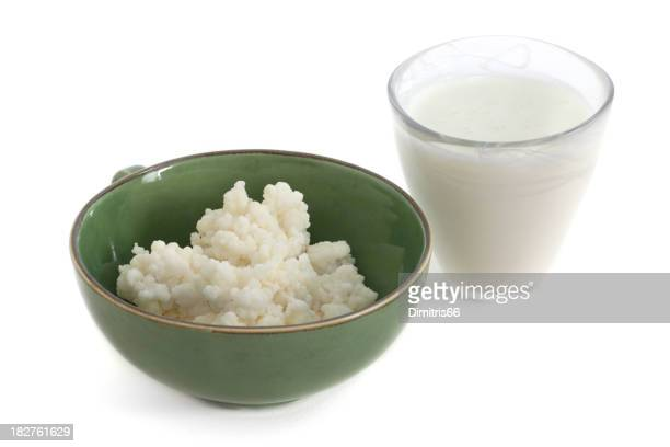 Kefir Drink and Fungus in a Bowl