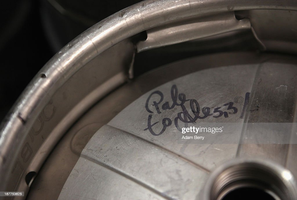 A keg of Pale Ale is seen at Heidenpeters brewery on November 12, 2013 in Berlin, Germany. In a country known for centuries for its beer, several microbreweries have opened within the past year that are not only bending traditional rules on the types of ingredients used, opting for American-style hops such as Amarillo and Cascade instead of German ones, but also moving beyond the official legal doctrine, known as the Reinheitsgebot, or 'German Beer Purity Law,' which stated that water, barley and hops were the only ingredients allowed in the production of the beverage. While the law has since been expanded, it continues to be referenced on beer bottles for marketing purposes.