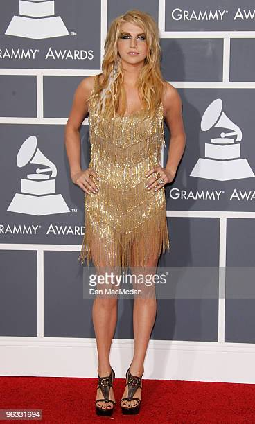 Ke$ha arrives at the 52nd Annual GRAMMY Awards held at Staples Center on January 31 2010 in Los Angeles California