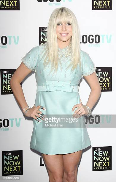 Ke$ha arrives at the Logo NewNowNext Awards 2013 held at The Fonda Theatre on April 13 2013 in Los Angeles California
