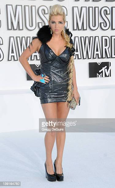 Ke$ha attends the 2010 MTV Video Music Awards at the Nokia Theatre on September 12 2010 in Los Angeles CA
