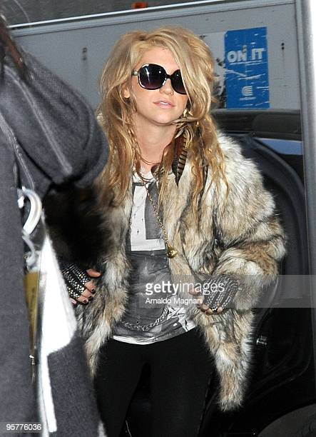 Ke$ha is seen at the Wendy Williams show on January 14 2010 in New York City