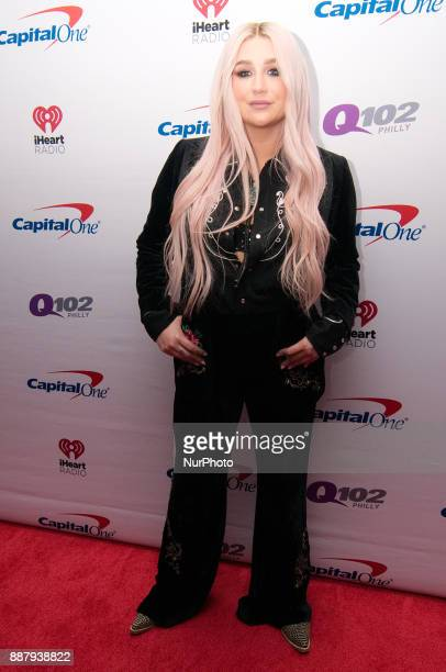 Ke$ha makes a red carpet appearance ahead of the Q102's iHeartRadio Jingle Ball 2017 at the Wells Fargo Center in Philadelphia PA on December 6 2017
