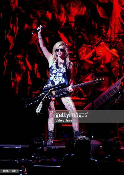 Ke$ha performs at American Airlines Arena on July 31, 2010 in Miami, Florida.
