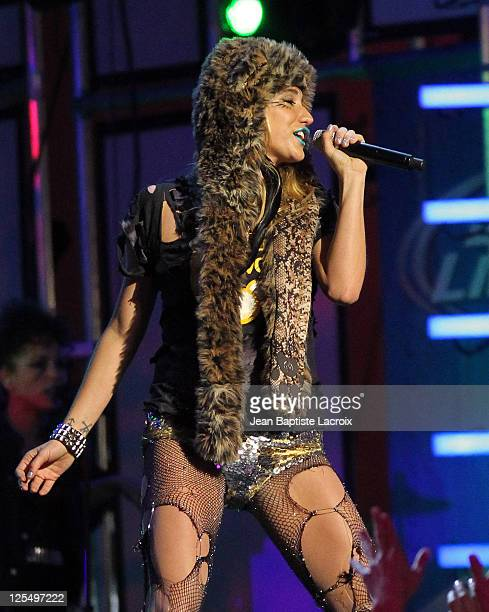 Ke$ha performs live on Jimmy Kimmel in Hollywood on November 22 2010 in Los Angeles California