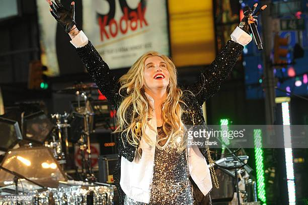 Ke$ha performs New Year's Eve 2011 in Times Square on December 31 2010 in New York City