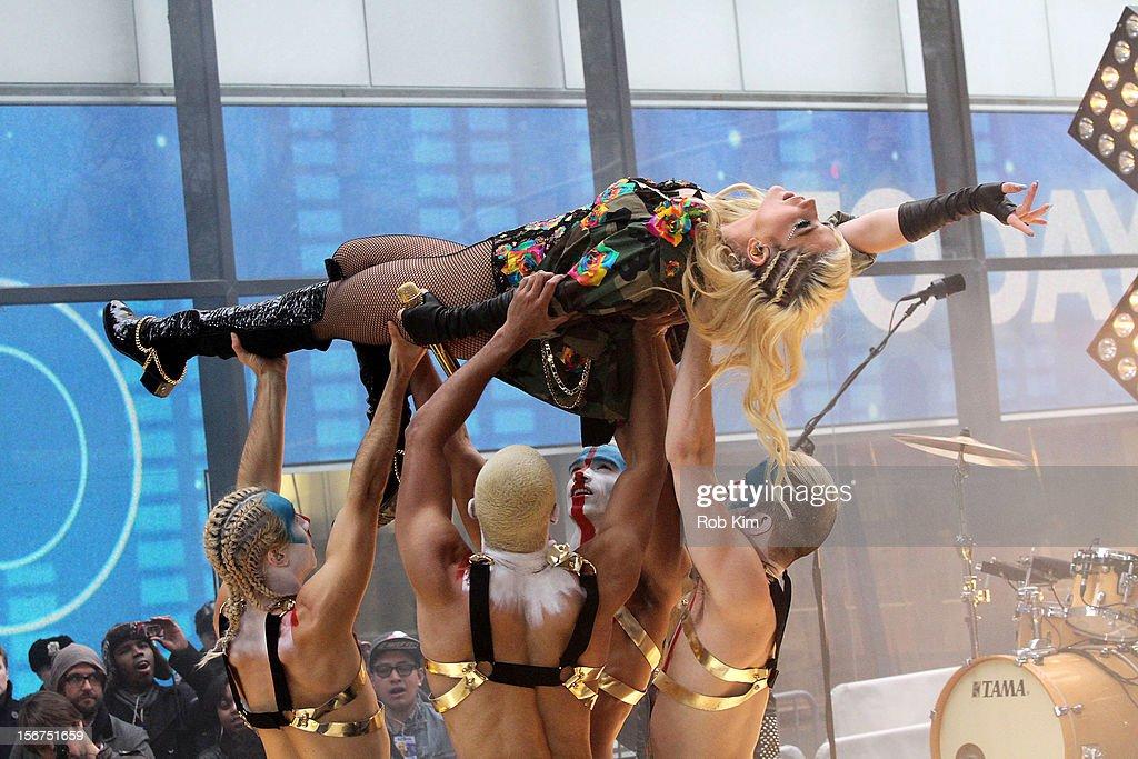 Ke$ha performs on NBC's 'Today' at Rockefeller Plaza on November 20, 2012 in New York City.