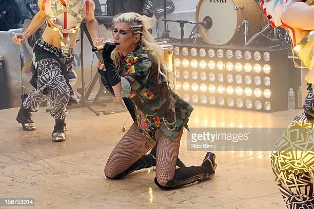 Ke$ha performs on NBC's Today at Rockefeller Plaza on November 20 2012 in New York City