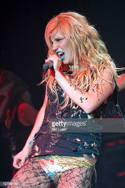Ke$ha performs on stage at Shepherds Bush Empire on December 14 2010 in London England