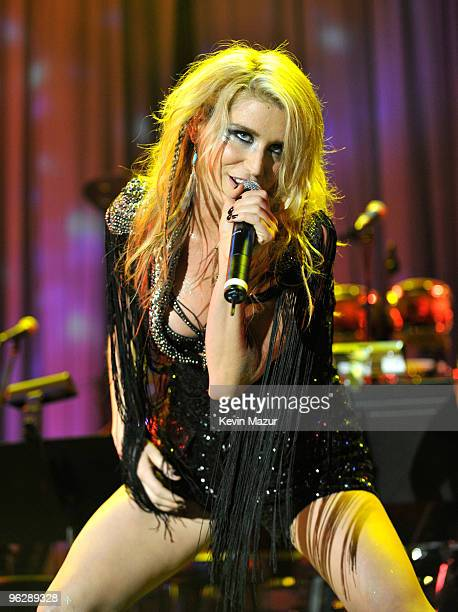 Ke$ha performs on stage at the 52nd Annual GRAMMY Awards Salute To Icons Honoring Doug Morris held at The Beverly Hilton Hotel on January 30 2010 in...