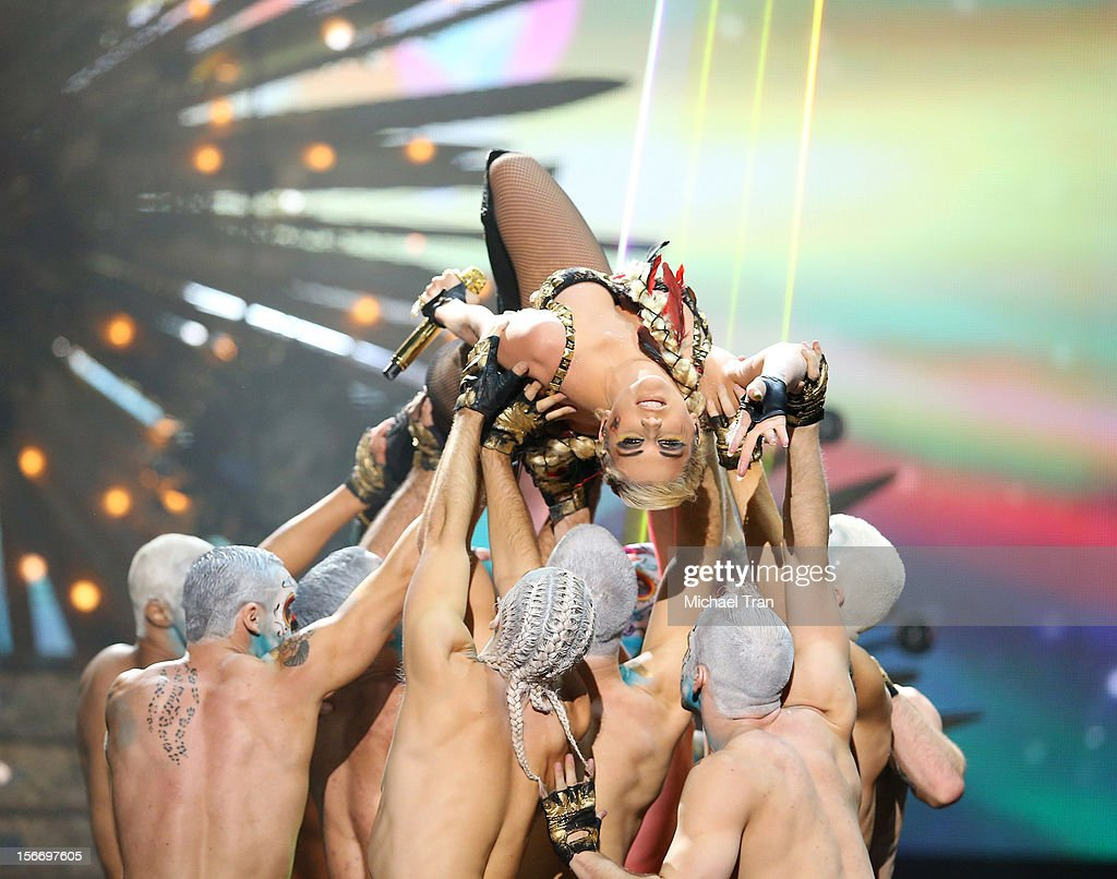 Ke$ha performs onstage at The 40th American Music Awards held at Nokia Theatre L.A. Live on November 18, 2012 in Los Angeles, California.