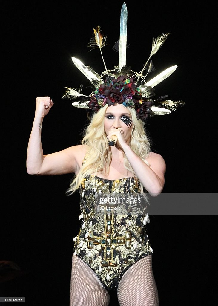 Ke$ha performs onstage during KIIS FM's 2012 Jingle Ball at Nokia Theatre LA Live on December 3, 2012 in Los Angeles, California.