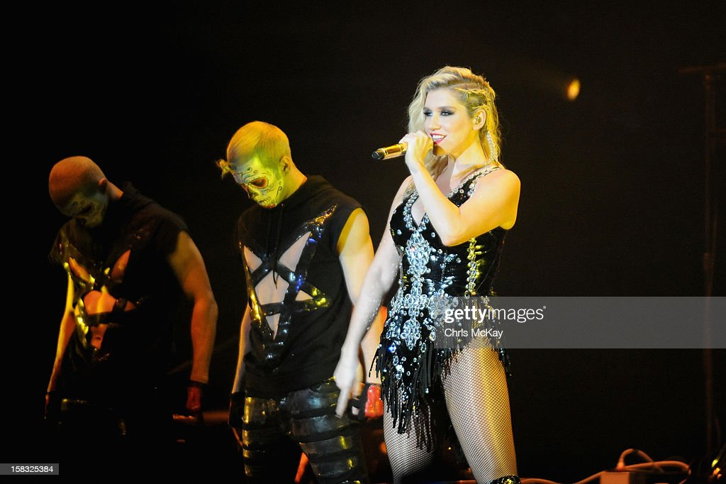 Ke$ha performs onstage during Power 96.1's Jingle Ball 2012 at the Philips Arena on December 12, 2012 in Atlanta.