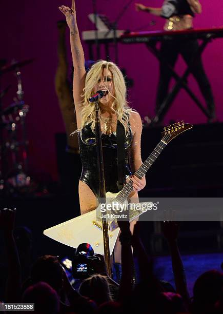 Ke$ha performs onstage during the iHeartRadio Music Festival at the MGM Grand Garden Arena on September 21, 2013 in Las Vegas, Nevada.