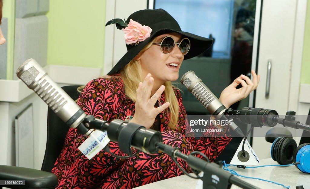 Ke$ha visits at Z100 Studio on November 20, 2012 in New York City.