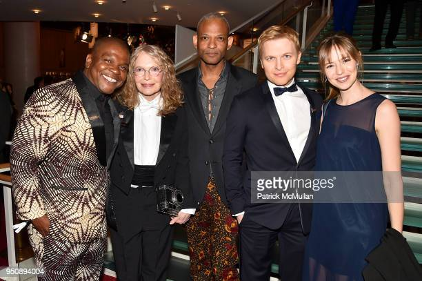 Kehinde Wiley Mia Farrow Brian Keith Jackson Ronan Farrow and Emily Nestor attend the 2018 TIME 100 Gala at Jazz at Lincoln Center on April 24 2018...