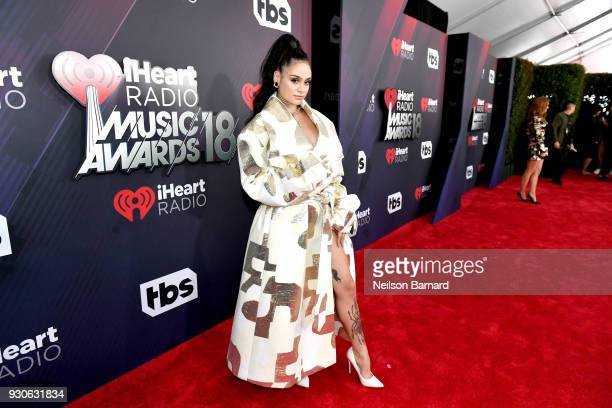 Kehlani arrives at the 2018 iHeartRadio Music Awards which broadcasted live on TBS TNT and truTV at The Forum on March 11 2018 in Inglewood California