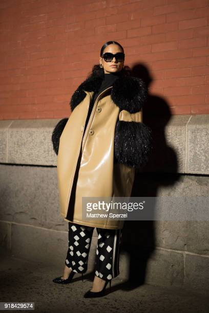Kehlani is seen on the street attending Marc Jacobs during New York Fashion Week wearing Marc Jacobs on February 14 2018 in New York City