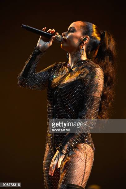 Kehlani performs during Demi Lovato Tell Me You Love Me World Tour at The Forum on March 2 2018 in Inglewood California