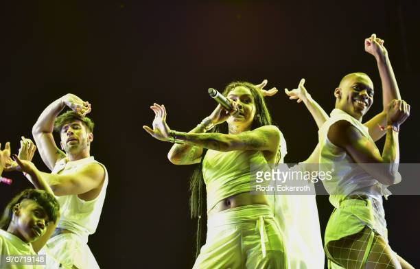 Kehlani performs onstage at LA Pride Music Festival and Parade 2018 on June 9 2018 in West Hollywood California