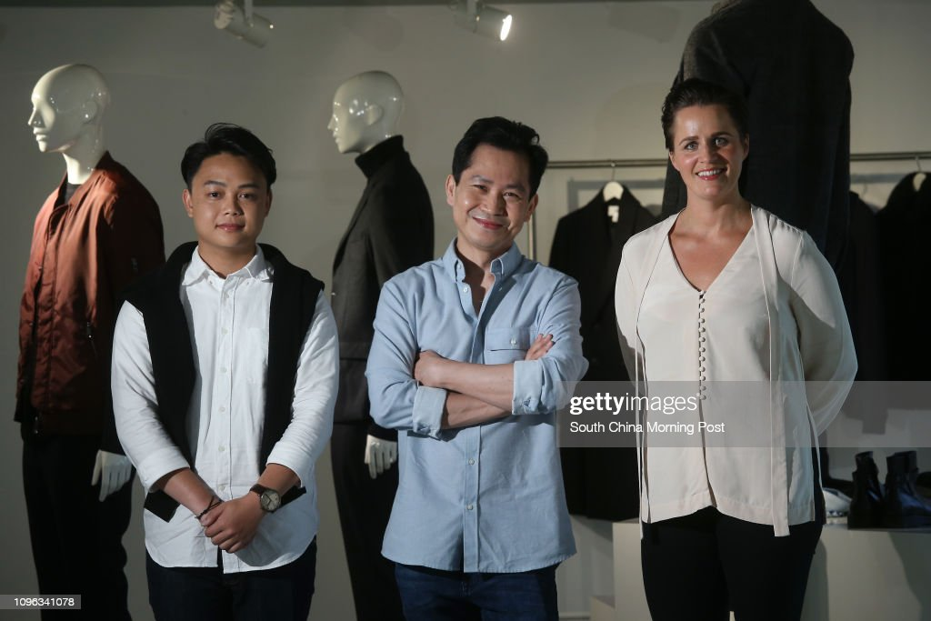 (L to R) Kei Cheungu, Store Manager; Charles Ho, Sales Advisor and Ann-Charlotte Berglind (right), Human Resource Manager of Greater China; poses for a picture at H&M in Tsim Sha Tsui. 22SEP16 SCMP / Dickson Lee : News Photo