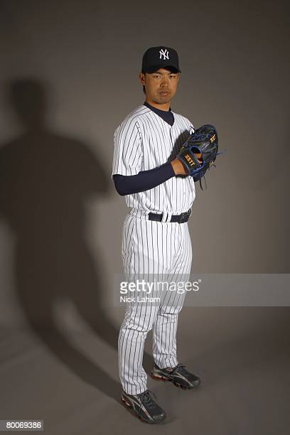 Kei Igawa of the New York Yankees poses during Photo Day on February 21 2008 at Legends Field in Tampa Florida