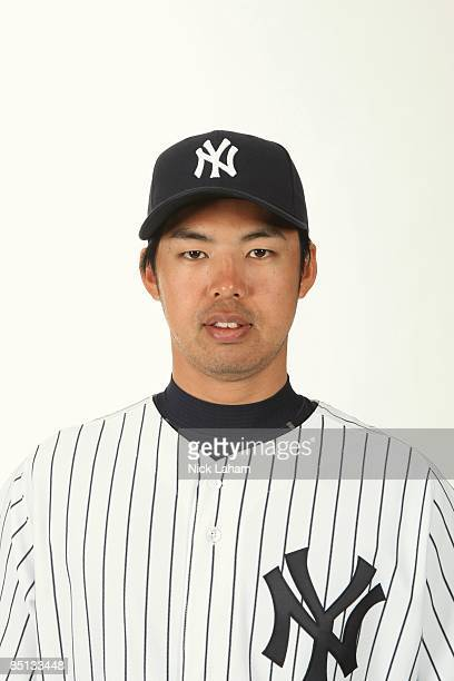 Kei Igawa of the New York Yankees poses during Photo Day on February 19 2009 at Legends Field in Tampa Florida