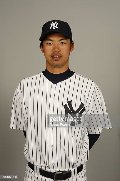 Kei Igawa of the New York Yankees poses during Photo Day on Thursday February 19 2009 at Steinbrenner Field in Tampa Florida