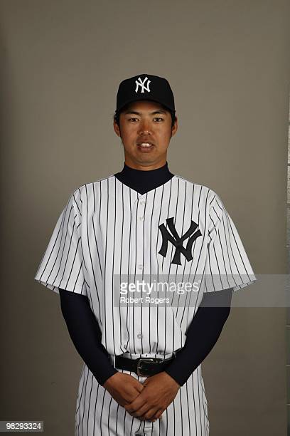 Kei Igawa of the New York Yankees poses during Photo Day on Thursday February 25 2010 at Steinbrenner Field in Tampa Florida