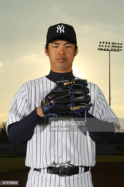 Kei Igawa of the New York Yankees poses for a photo during Spring Training Media Photo Day at George M Steinbrenner Field on February 25 2010 in...