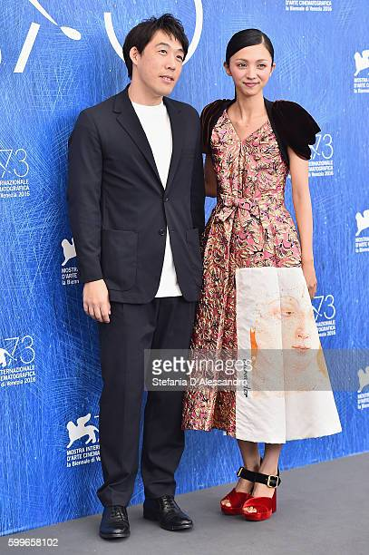 Kei Ishikawa and Hikari Mitsushima attend a photocall for 'Traces Of Sin' during the 73rd Venice Film Festival at on September 6 2016 in Venice Italy