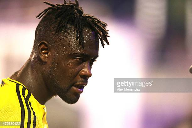 Kei Kamara of Columbus Crew is seen during a MLS soccer match between the Columbus Crew and the Orlando City SC at the Orlando Citrus Bowl on May 30...