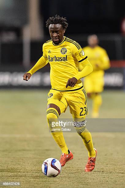 Kei Kamara of the Columbus Crew SC in action against Toronto FC on March 14 2015 at MAPFRE Stadium in Columbus Ohio