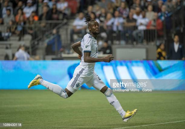 Kei Kamara of the Vancouver Whitecaps at BC Place on September 15 2018 in Vancouver Canada