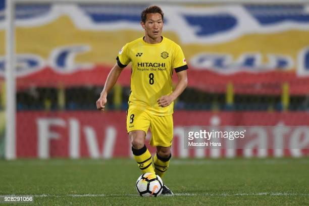 Kei Koizumi of Kashiwa Reysol in action during the AFC Champions League Group E match between Kashiwa Reysol and Kitchee at Sankyo Frontier Kashiwa...