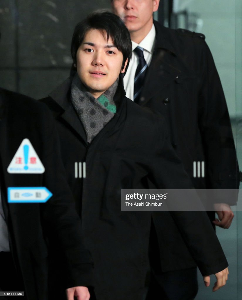 Kei Komuro, fiance of Princess Mako of Akishino is seen after the Imperial Household Agency announces the postponement of the marriage of Princess Mako of Akishino and Kei Komuro by 2020 on February 6, 2018 in Tokyo, Japan.