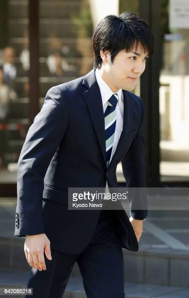 Kei Komuro Princess Mako's fiance and longtime boyfriend from university days leaves his home in Yokohama south of Tokyo on Sept 3 to meet the press...