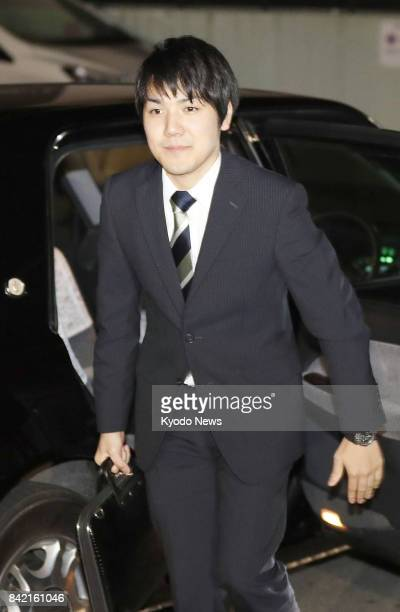 Kei Komuro returns home in Yokohama south of Tokyo on Sept 3 after attending events including a news conference following an announcement by the...