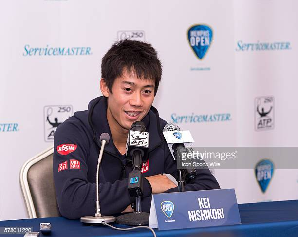 Kei Nishikori at the 2015 Memphis Open presser in Memphis Tennessee before his opening day of play.