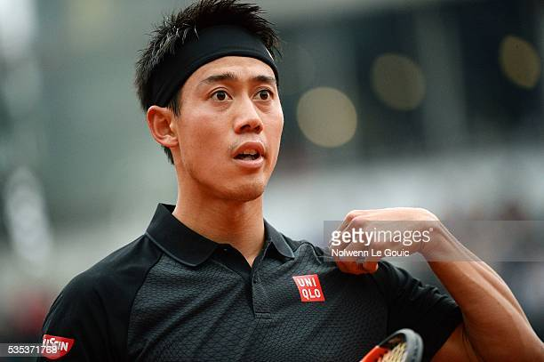 Kei Nishikori during the Men's Singles on day eight of the French Open 2016 on May 29 2016 in Paris France