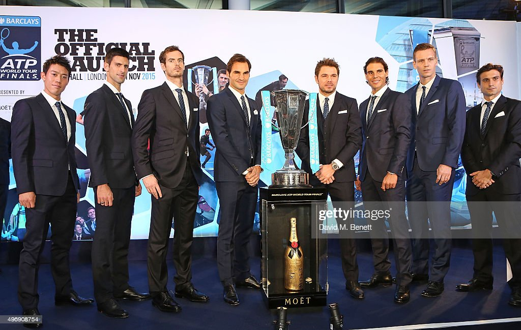 Moet & Chandon, Tennis Champions And VIPs Raise A Toast To The Official Launch Of The 2015 Barclays ATP World Tour Finals : News Photo
